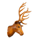 Vendimia de madera de los ciervos Fotografía de archivo