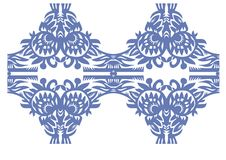 Vendimia decorativa floral azul Fotos de archivo libres de regalías