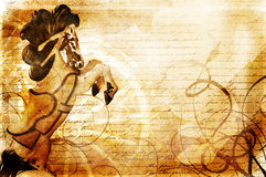 Vendimia del carrusel Imagen de archivo libre de regalías