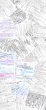 Vendimia escrita Fotografía de archivo libre de regalías