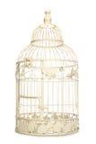 Vendimia que mira la jaula de pájaro Foto de archivo