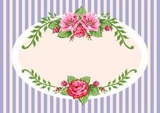 Vendimia retra de las rosas del vector libre illustration