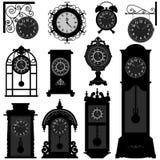 Vendimia Tra viejo clásico antiguo de la antigüedad del tiempo de reloj Foto de archivo