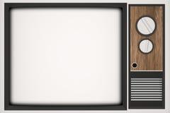 Vendimia TV con el lugar para su foto Imagenes de archivo