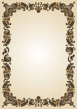 Vendimia vacía del marco de la flor Imagenes de archivo