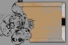 Vendimia y marco de madera Fotos de archivo