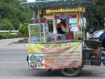 Vending cart. One of hundreds of food conveyances plying their trade on the streets of Pattaya, Thailand Stock Photography