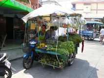 Vending cart. One of hundreds of food conveyances plying their trade on the streets of Pattaya, Thailand Stock Image