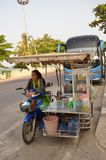 Vending cart. One of hundreds of food conveyances plying their trade on the streets of Pattaya, Thailand Royalty Free Stock Photo