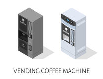 Vending coffee machine isometric vector Royalty Free Stock Images