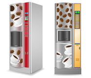 Vending coffee is a machine vector illustration royalty free illustration