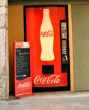 Vending Machine. A Coca Cola vending machine in Girona, Spain Royalty Free Stock Images