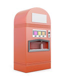 Vending machine for beverages  on white background. 3d r Royalty Free Stock Photo