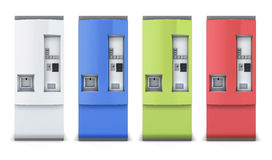 Vending machine different colors Royalty Free Stock Photo