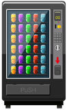 Vending machine fulled of soft drink Stock Photos