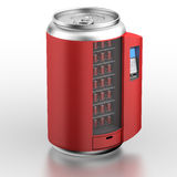 Vending machine similar on can with beverage Stock Images