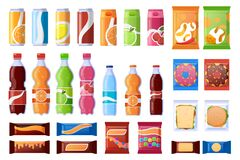 Free Vending Machine Snack. Beverages, Sweets And Wrapper Snack, Soda, Water. Vending Products, Machine Bar Snacks Vector Stock Images - 179622664