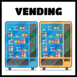 Vending machine with snacks and drinks Stock Image