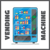 Vending machine with snacks and drinks Royalty Free Stock Photography