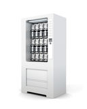 Vending machine for snacks and soda . 3d rendering Royalty Free Stock Photos