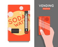 Vending machine vector set. Royalty Free Stock Images