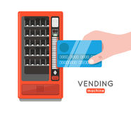 Vending machine vector set. Sell snacks and soda drinks vending Stock Images