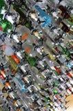 Vending machines bottles of spirits in a futuristic bar Stock Photo