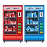 Vending machines flat vector illustration Stock Images