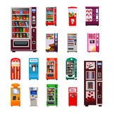 Vending Machines Icons Set Royalty Free Stock Images