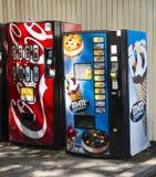 Vending Machines. M&M ice cream and Coca Cola vending machines Royalty Free Stock Images