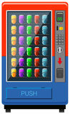 Vending maching in red and blue color Stock Photos