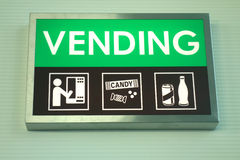 Vending Sign Royalty Free Stock Images