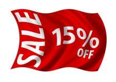 Vendita 15% fuori Fotografie Stock Libere da Diritti