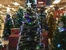Vendita al dettaglio degli alberi di Natale Fotografie Stock