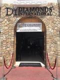 Vendita al dettaglio dei gioielli internazionali dei diamanti in StMaartin, caraibico Immagini Stock Libere da Diritti
