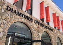 Vendita al dettaglio dei gioielli internazionali dei diamanti in StMaartin, caraibico Fotografia Stock Libera da Diritti