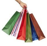 Vendita al dettaglio di consumismo del sacchetto di acquisto Fotografia Stock