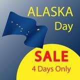 Vendita al giorno dell'Alaska illustrazione di stock