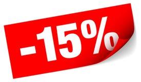 Vendita appiccicosa rossa diagonale della nota meno quindici per cento royalty illustrazione gratis