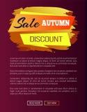 Vendita Autumn Discount Label sull'illustrazione di vettore Fotografia Stock