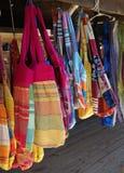 Vendita colorata delle borse Fotografia Stock