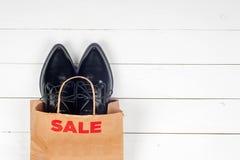 Vendita con le scarpe Immagine Stock Libera da Diritti