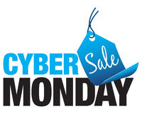 Vendita cyber di lunedì Fotografia Stock