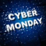 Vendita cyber di lunedì Immagini Stock