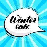 Vendita d'iscrizione ispiratrice di inverno dell'iscrizione illustrazione di stock