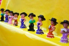 vendita dei ricordi spagnoli dei ballerini di flamenco fotografia stock libera da diritti