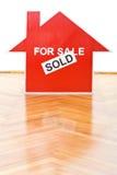 Vendita del concetto delle case Immagine Stock