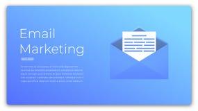 Vendita del email Illustrazione di concetto di web della pubblicità digitale, vendita, ottimizzazione del cliente Fotografia Stock Libera da Diritti