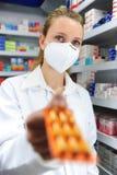 vendita del farmacista della medicina Fotografia Stock