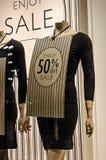 Vendita del manichino 50% del negozio Fotografia Stock Libera da Diritti
